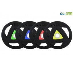 Body Maxx Rubber Coated Plates 80 Kg Stearing Grip